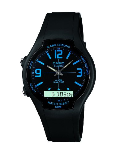 Casio Men's Watch AW-90H-2BVEF with Combi Resin Strap