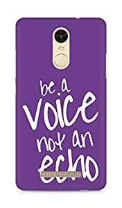 AMEZ be a voice not an echo Back Cover For Xiaomi Redmi Note 3