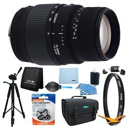 Sigma 70-300mm f/4-5.6 SLD DG Macro Lens for Nikon DSLRs Lens Kit Bundle
