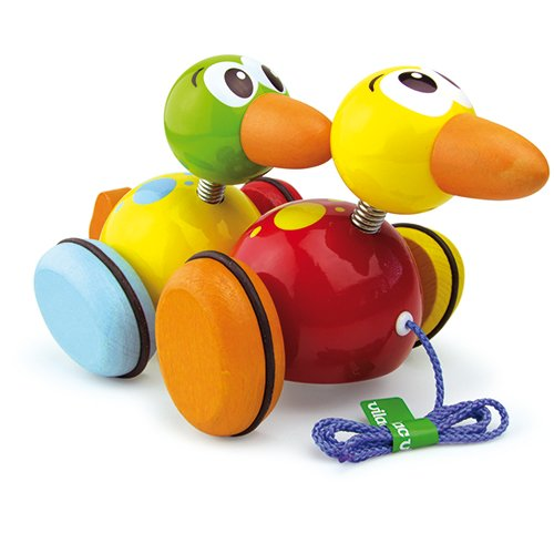 Vilac Pull Toy, Two Waddle Ducks