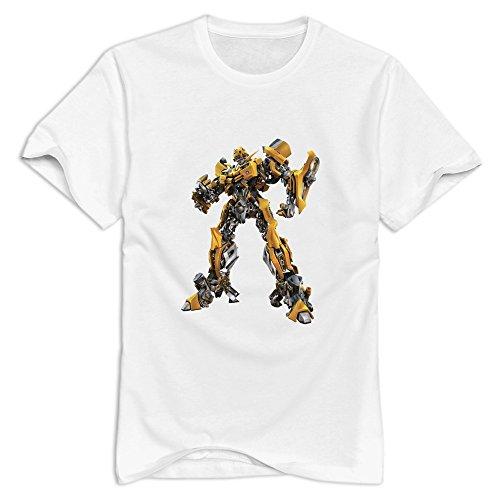 StaBe Men Transformers T-Shirt 100% Cotton Cool XXL White