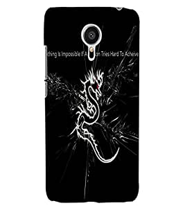 ColourCraft Dragon Image with Quote Design Back Case Cover for MEIZU MX5