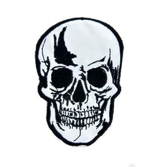 Amazon.com: Biker Skull Iron On Patch Goth Deathrock Applique