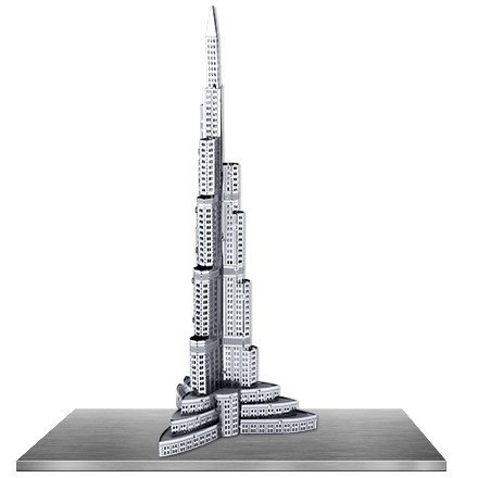 Fascinations Metal Earth 3D Laser Cut Model - Burj Khalifa - 1