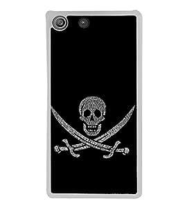 Skull with Swords 2D Hard Polycarbonate Designer Back Case Cover for Sony Xperia M5 Dual :: Sony Xperia M5 E5633 E5643 E5663