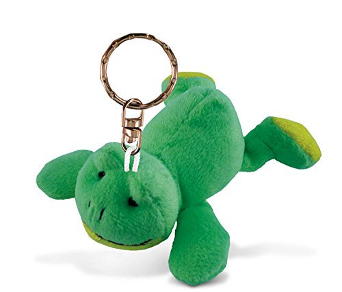 Puzzled Frog Plush Keychain