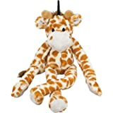 Multipet Swingin Safari Giraffe 22-Inch Large Plush Dog Toy with Extra Long Arms and Legs with Squeakers