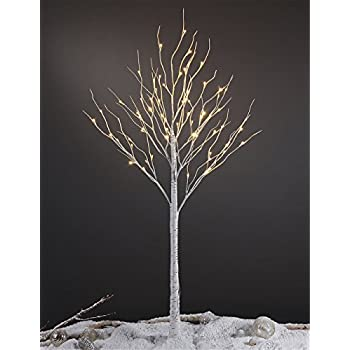6 Feet Lighted Birch Tree