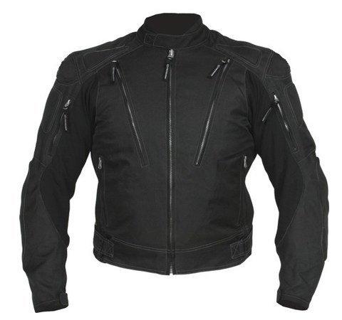 Australian Bikers Gear Velocity Waterproof Black Cordura Armoured Motorcycle Jacket (36