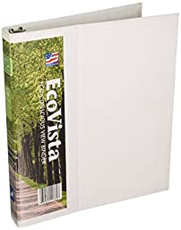 Aurora 11364 1-Inch Capacity D Ring Eco Vista View Binder