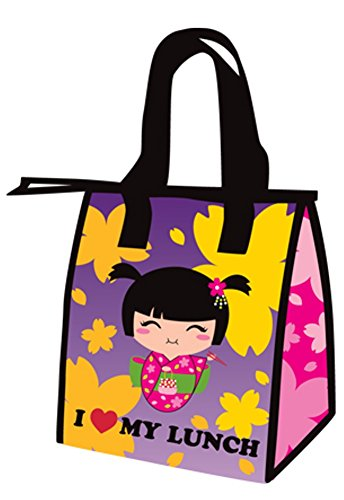 Japanese Asian Girl Small Lunch Bag Tote / Cooler - 1
