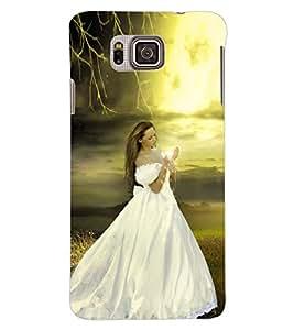 ColourCraft Beautiful Girl Design Back Case Cover for SAMSUNG GALAXY ALPHA G850
