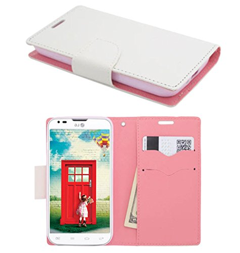 Mylife (Tm) Frosty White + Ballerina Pink {Professional Design} Faux Leather (Card, Cash And Id Holder + Magnetic Closing) Slim Wallet For The All-New Htc One M8 Android Smartphone - Aka, 2Nd Gen Htc One (External Textured Synthetic Leather With Magnetic