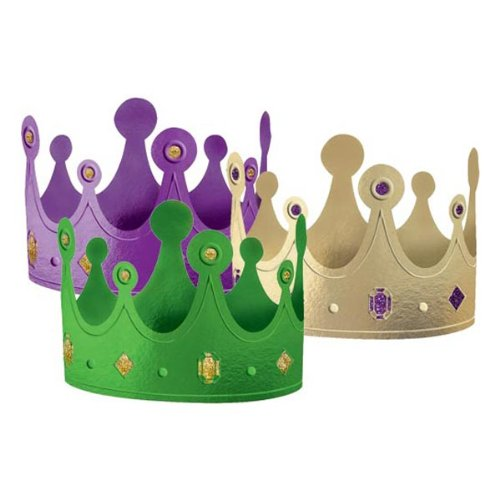 Mardi Gras Paper Crowns Asst. (12 count)