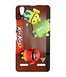 Vogueshell Android Kitkat Printed Symmetry PRO Series Hard Back Case for Lenovo A6000