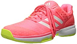 adidas Performance Women\'s Adizero Ubersonic 2 W Tennis Shoe, Flash Red White/Electricity, 8 M US