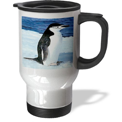 3Drose Penguin Travel Mug, 14-Ounce