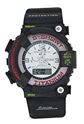 LegendDeal Showy White Digital & Analog Casual Watch For Mens and Boys