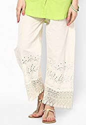 Castle Womens Palazzo (Off White_Free Size)