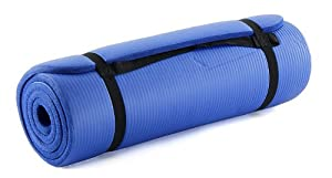 ProSource Premium 1/2-Inch Extra Thick 71-Inch Long High Density Exercise Yoga Mat with Comfort Foam and Carrying Case from ProSource