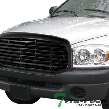 Topline Autopart Black Horizontal Front Hood Bumper Grill Grille Guard Cover ABS 06-08 / 09 Dodge Ram (07 Dodge Ram Hood With Vents compare prices)