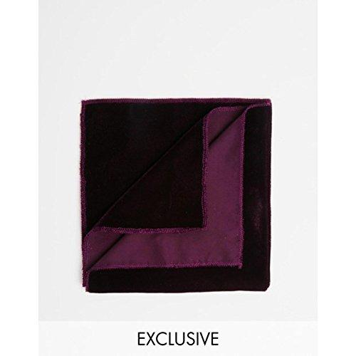 (リクレイム ヴィンテージ) Reclaimed Vintage メンズ アクセサリー ハンカチ Velvet Pocket SquareBurgundy OneSize [並行輸入品]