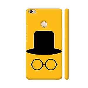 Colorpur Flat Cap And Glasses On Yellow Artwork On Xiaomi Mi Max Cover (Designer Mobile Back Case) | Artist: Designer Chennai