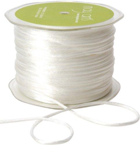 May Arts Ribbon, White Satin String