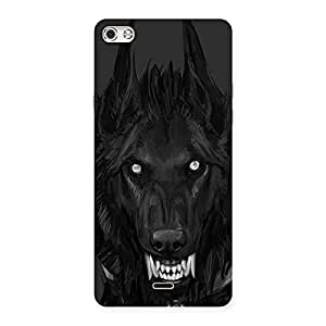 Danger Wolf Back Case Cover for Micromax Canvas Silver 5