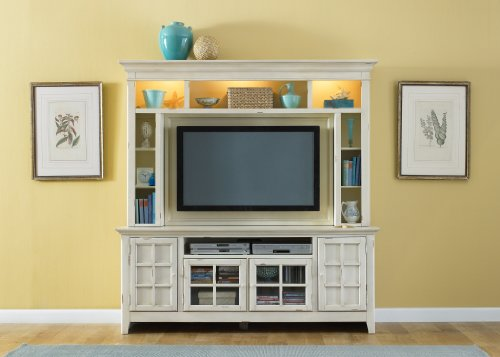 Cheap LIBERTY NEW GENERATION ENTERTAINMENT CENTER TV STAND & HUTCH VINTAGE WHITE NEW (840-ENT)