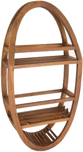 Patented Moa Oval Teak Shower Organizer