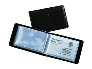 Sigel VZ170 Porte-cartes de visite imitation cuir pour 40 cartes format 90 x 58 mm (Noir mat)