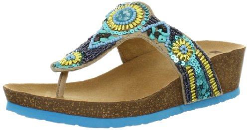 White Womens Biggy Sandal Turquoise