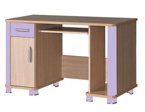 Schreibtisch Computertisch Kinderzimmer eiche milchig lila günstig kaufen
