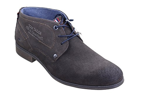 TOM TAILOR - Stivali Desert Boots Uomo , Marrone (Mokka), 44 eu