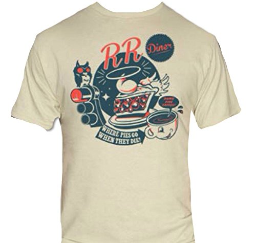 Double R RR Diner T-Shirt-Funny Twin Peaks Shirt-Small-Heather Gray (Twin Peaks Clothes compare prices)