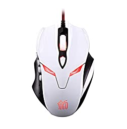WHITE E-sports Game Self-defined Mouse Professional Luminous Wired Mouse Electronics Computer Networking
