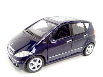 Buy MERCEDES BENZ A CLASS 4DR BLUE 1:18 DIECAST MODEL
