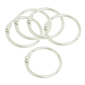 Silver Tone 30mm OD Looseleaf Binder Rings for Scrapbooks- 9 Pieces