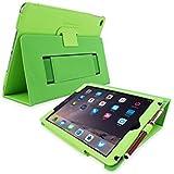 英国Snugg社製 Apple iPad Pro 9.7 用 PUレザーケース カバー - スタンド機能・生涯補償付き (グリーン)
