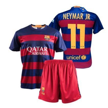 FC Barcelona - Completo da calcio per bambino, replica ufficiale 1a squadra del FC Barcelona 2015-2016, maglia di Neymar - 6