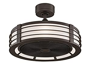 Fanimation FP7964OB Beckwith Fan With Cream Shade And