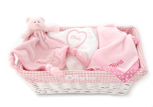 Personalised Baby Gift Set Pink