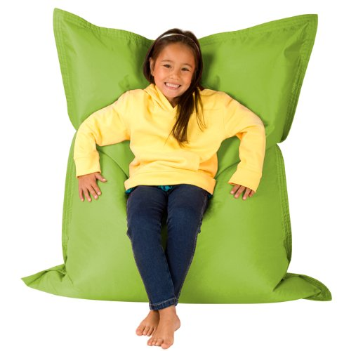 Hi-BagZ® KIDS Bean Bag Vierweg Liege - RIESIGER Kinder Sitzsack Outdoor Bodenkissen LIMETTENGRÜN - 100% Wasserabweisend