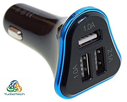 TurboTech 4.1A 3 USB Port Car Charger