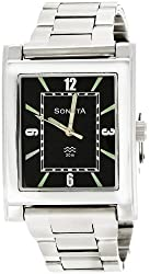 Sonata Analog Black Dial Mens Watch - NF7925SM02A