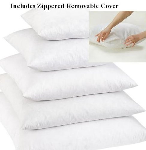 "New Set of 2 - 20 x 20"" - 95% Feather 5% Down Pillow Insert - Exclusively by Blowout Bedding RN..."
