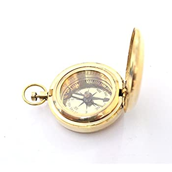 Nautical Collectible Retro Style Compass Decorative Gift Item Brass Finish Compass