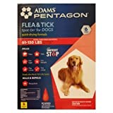 Adams Pentagon Flea and Tick for 61 to 150 Lb Dogs Spot on for Dogs, Quick Drying Formula