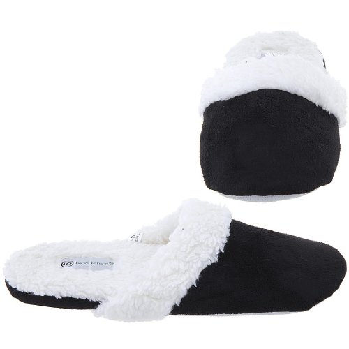 Cheap Harve Benard Black Slip On Slippers for Women (B006CVRYDM)